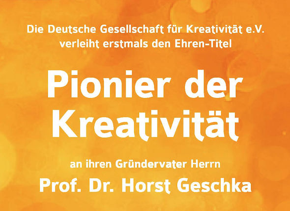 DGfK kürt Horst Geschka zum Pionier der Kreativität