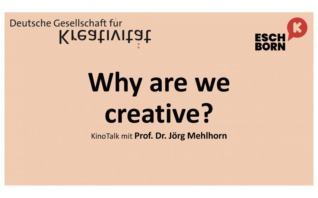 """Why are we creative?"" Filmvorführung mit Talk"