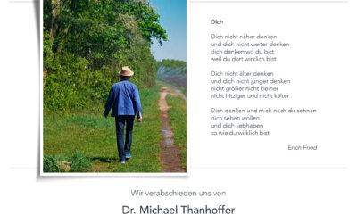 Abschied von Michael Thanhoffer