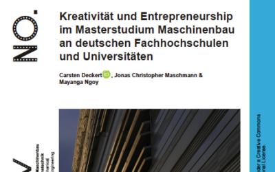 Kreativität im Masterstudium für Ingenieure – weitgehend Fehlanzeige !!